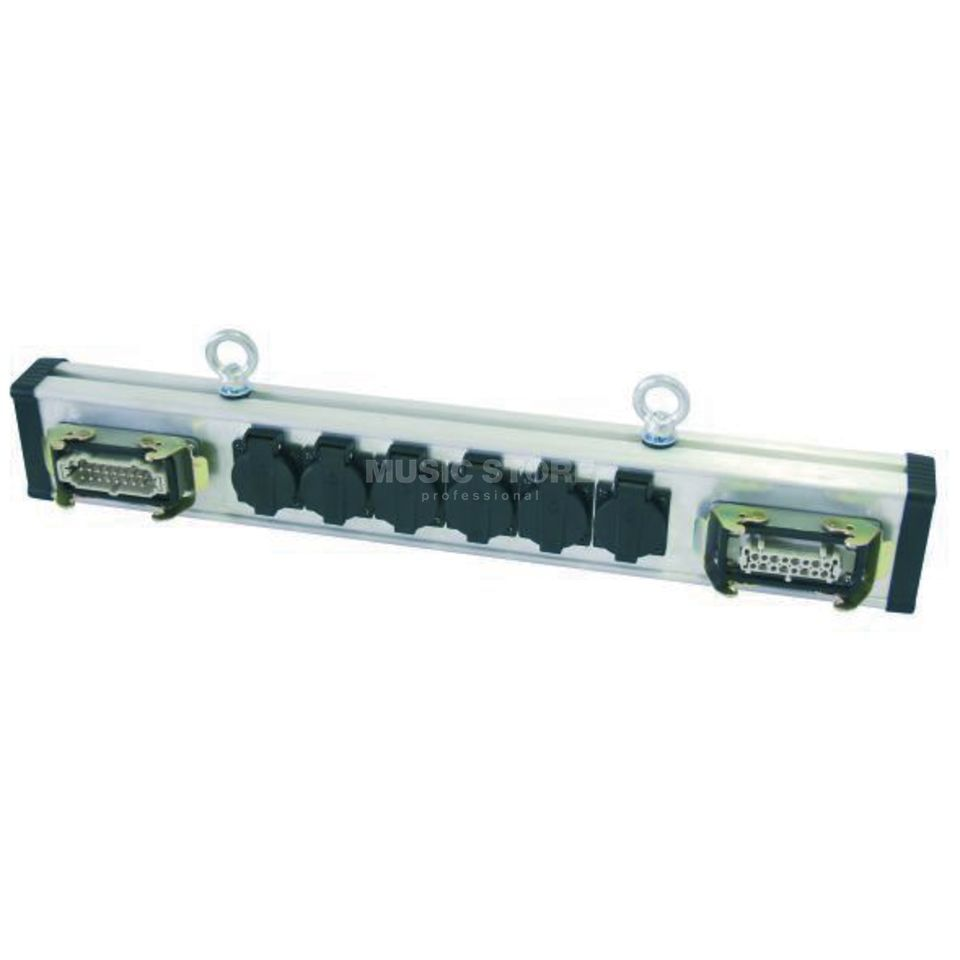Eurolite SAB-616X Breakout Bar HAN 16 IN/OUT --> 6x Schuko Produktbillede
