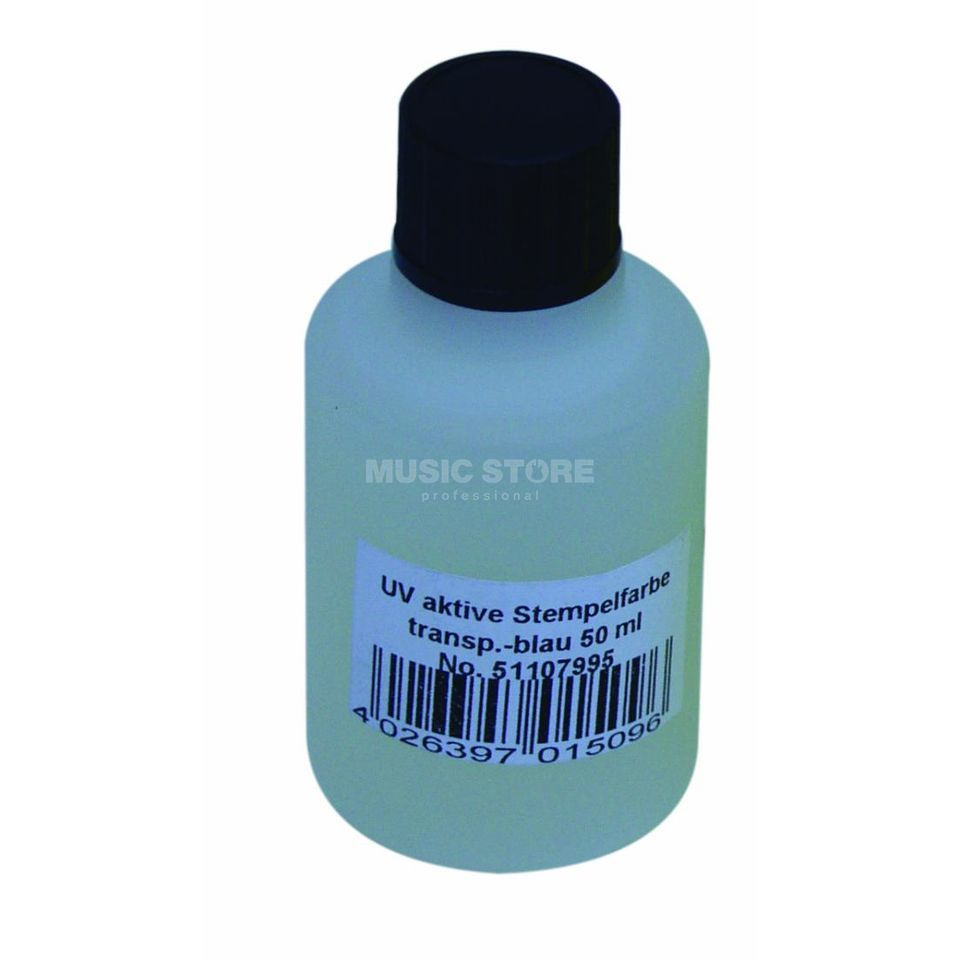 Eurolite UV-active stamp color blue 50 ml Produktbillede