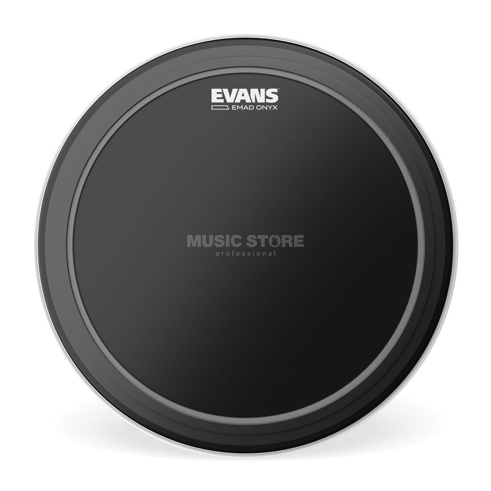 "Evans EMAD BlackOnyx 22"",BD22EMADONX Bass Drum Batter Product Image"