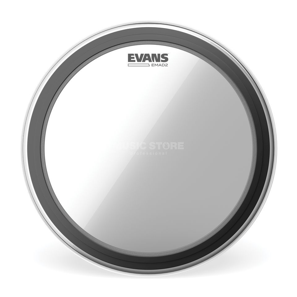 "Evans EMAD2 Clear, 24"", BD24EMAD2, Bass Drum Batter Product Image"