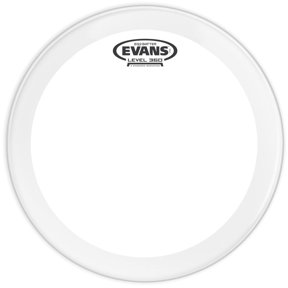 "Evans EQ2 BD20GB2, 20"", clear, Bass Drum Batter Produktbillede"