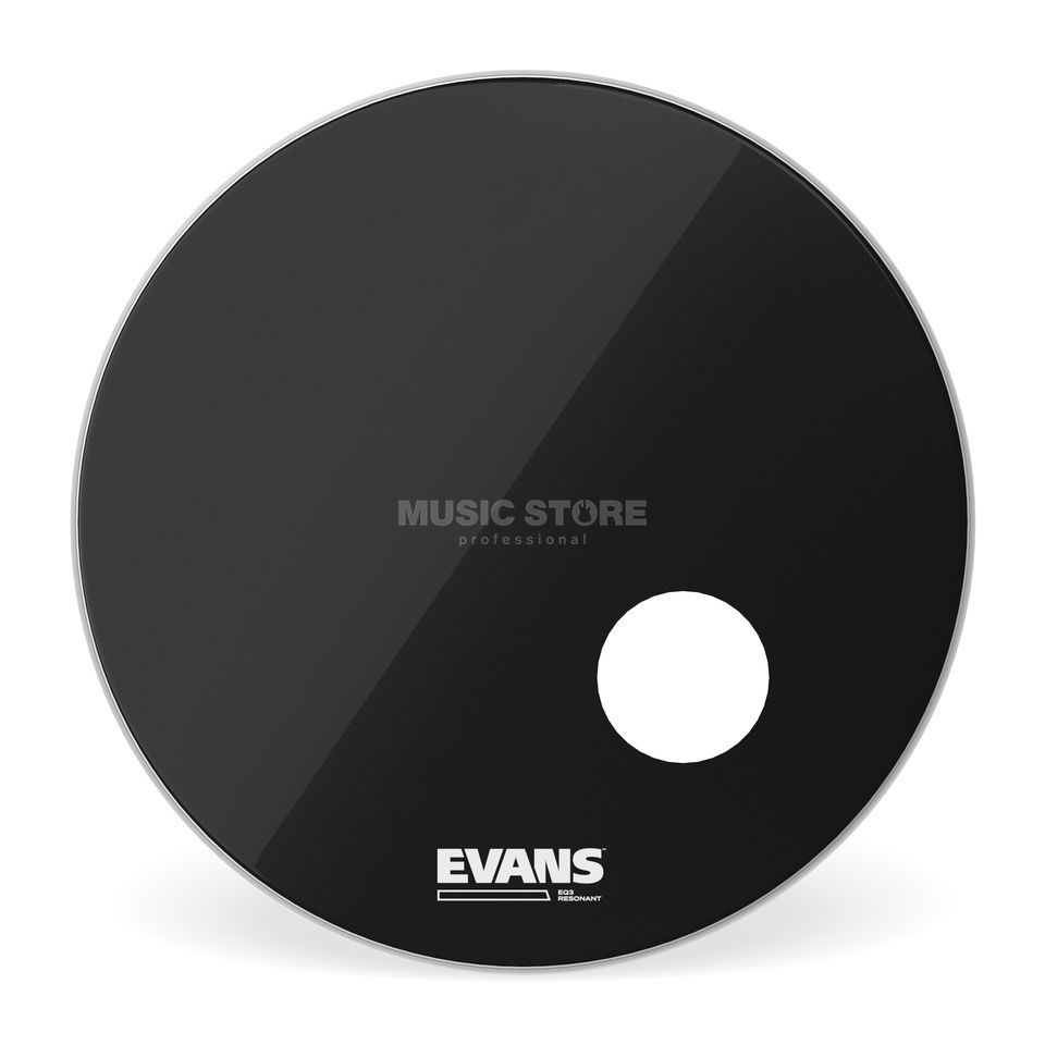 "Evans EQ3 Black 20"", BD20RB, Bass Drum Reso Product Image"