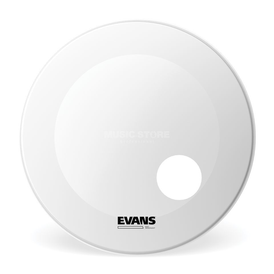 "Evans EQ3 Coated White 22"", BD22RGCW Bass Drum Reso Produktbild"