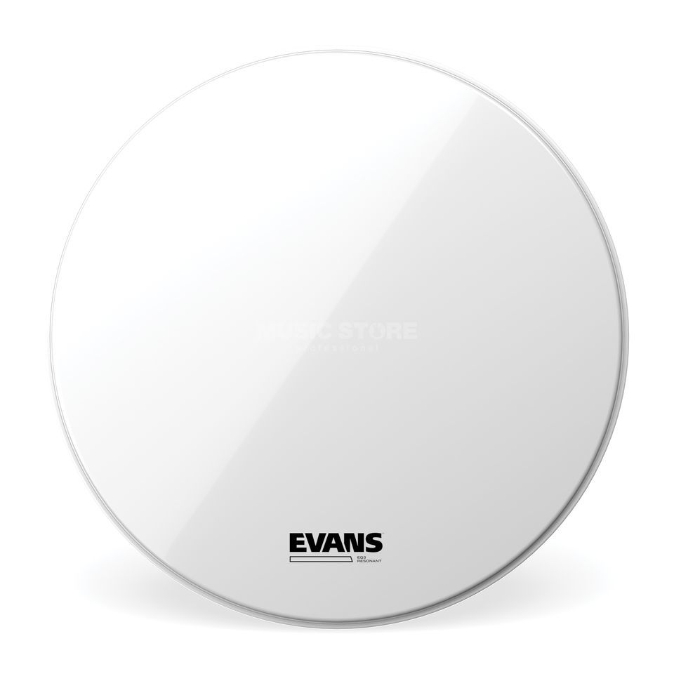 Evans EQ3 Resonant White,TT16RSW-NP, BassDrum Reso, Tom Hoop Product Image