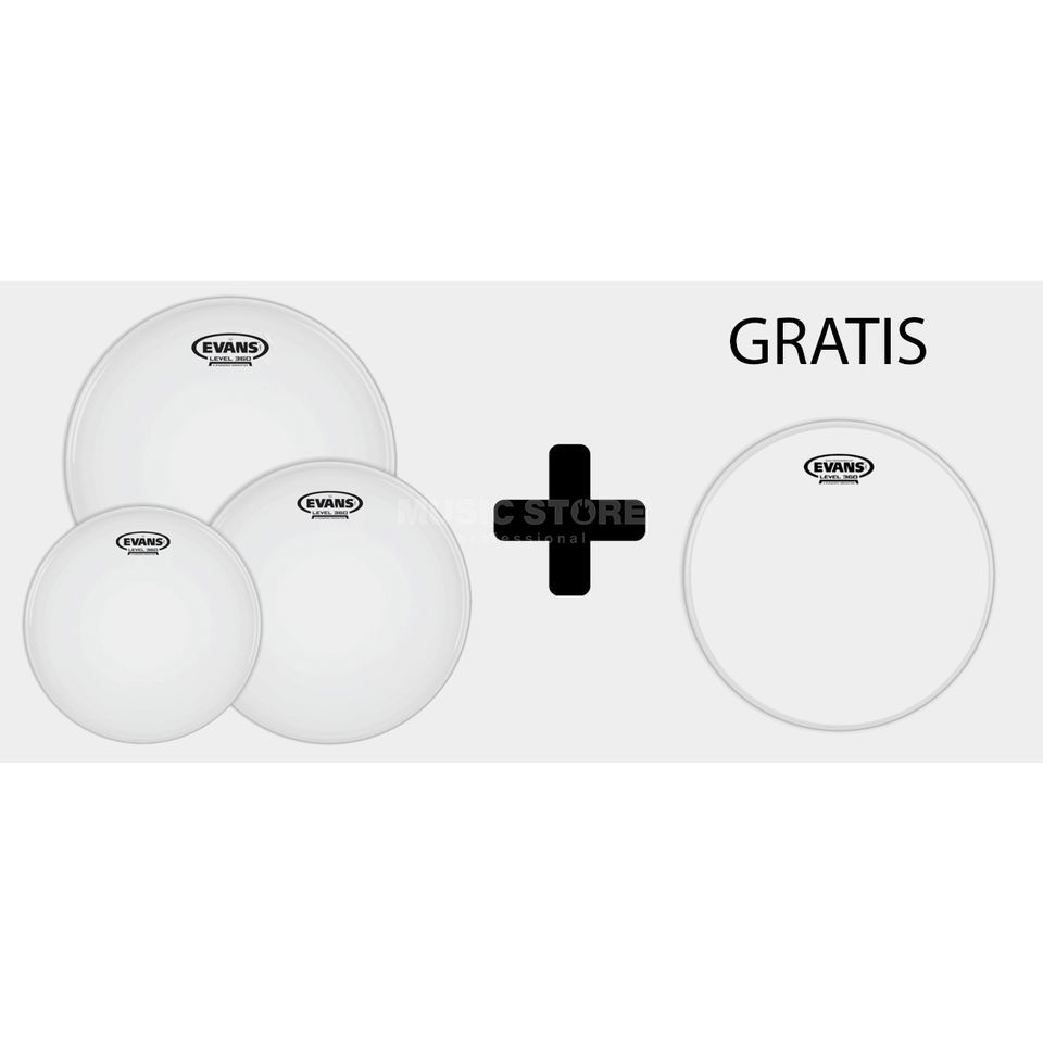 "Evans G2 Coated Rock Pack 10"",12"",16"" + Powercenter RD Image du produit"