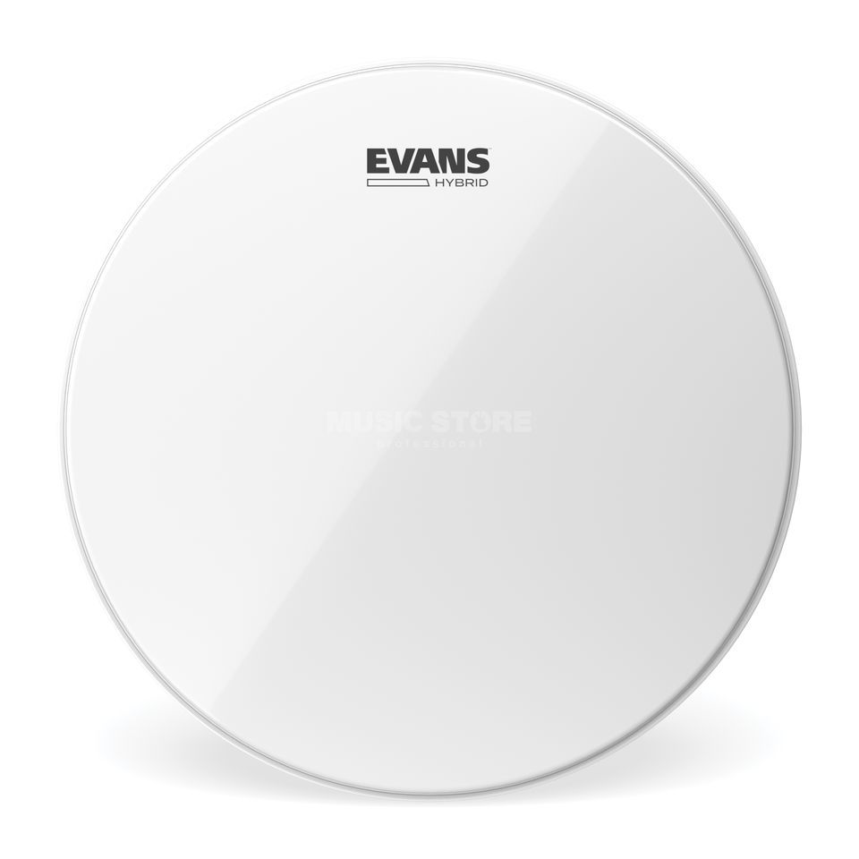 "Evans Hybrid 14"", SB14MHW, White, Marching Snare Batter Изображение товара"