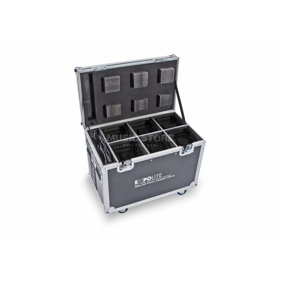 Expolite AkkuLED Power Compact 6-fach Case m. integr. Ladestation Produktbild