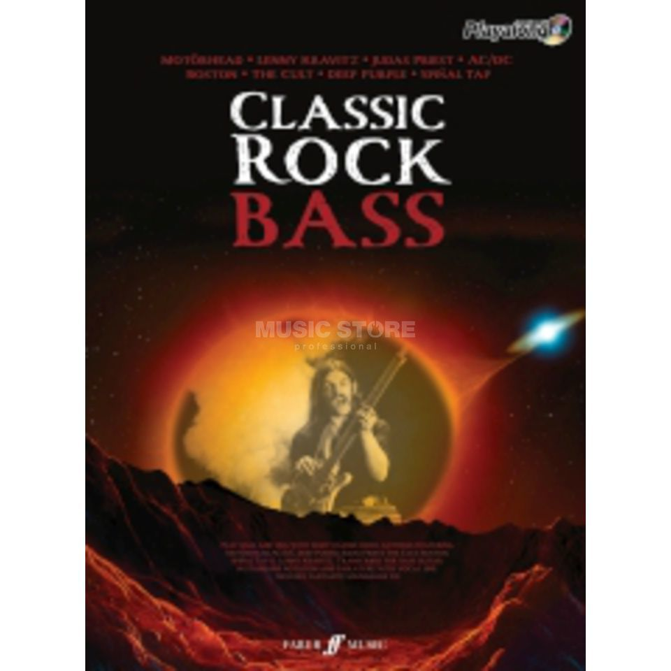Faber Music Auth.Play Along - Classic Rock Bass, TAB/CD Produktbild