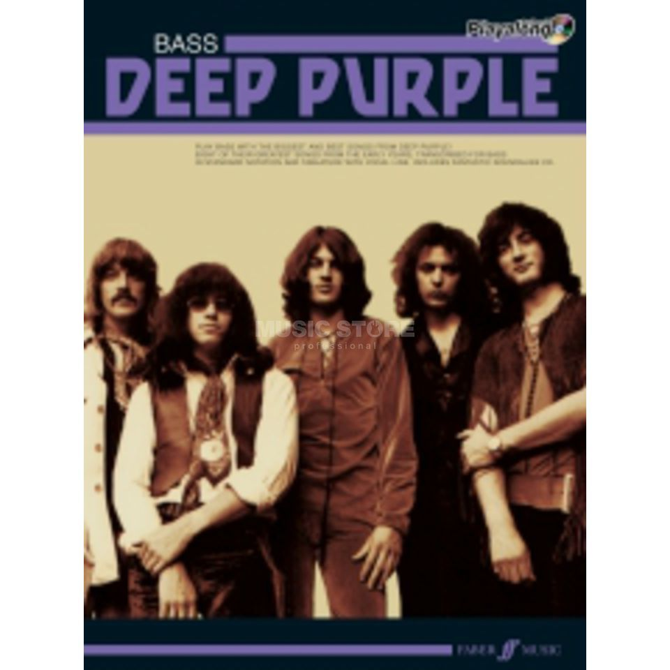Faber Music Auth.Play Along - Deep Purple Bass, TAB/CD Produktbillede