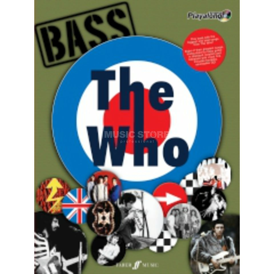 Faber Music Auth.Play Along - The Who Bass, TAB/CD Produktbillede