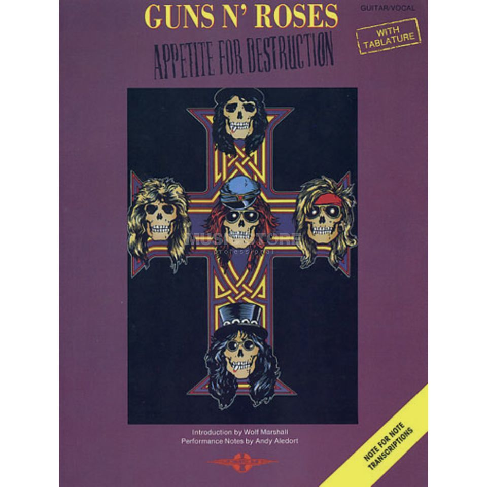 Faber Music Guns N' Roses: Appetite For Destruction TAB Produktbild