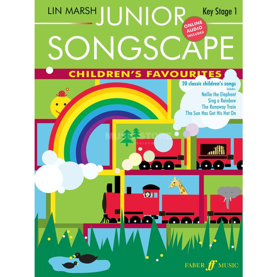Faber Music Junior Songscape: Children's Favourites, Piano-Vocal, CD Produktbillede