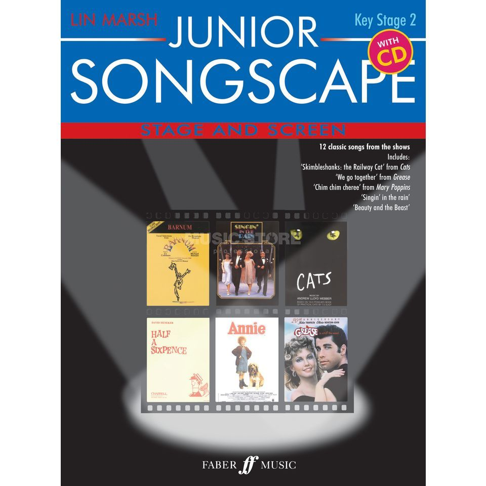 Faber Music Junior Songscape: Stage and Screen, Piano-Vocal, CD Produktbillede