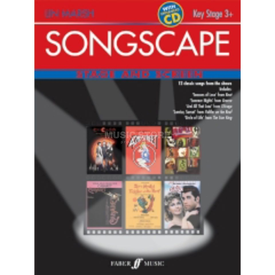 Faber Music Junior Songscape: Stage and Screen, Piano-Vocal, ECD Produktbillede
