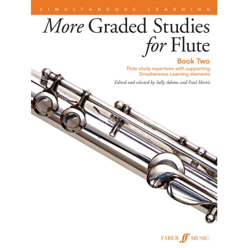 Faber Music More Graded Studies: Flute Book 2, Paul Harris, S. Adams Produktbild