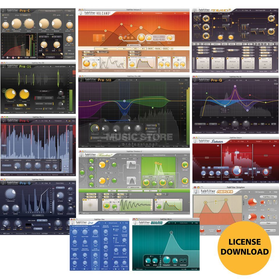 Fabfilter Total Bundle (DOWNLOAD) Image du produit