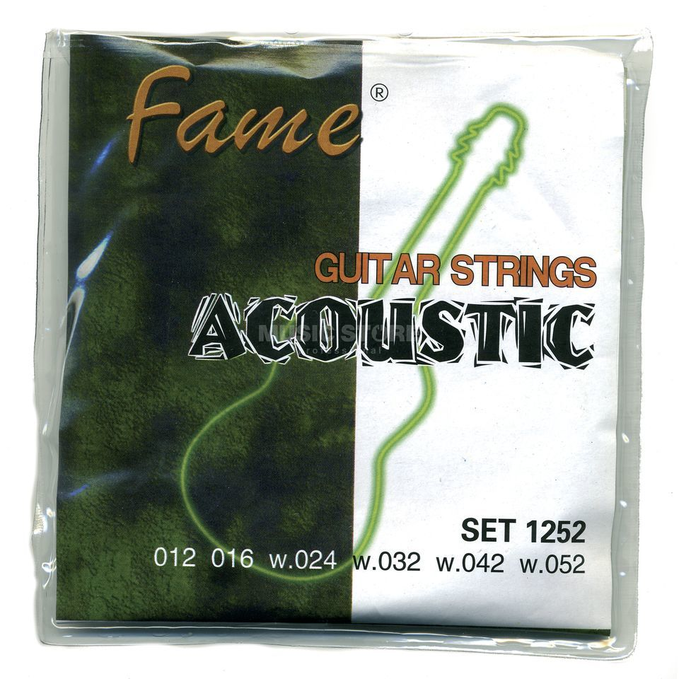 Fame A-Guitar Strings,12-52 round wound Produktbillede