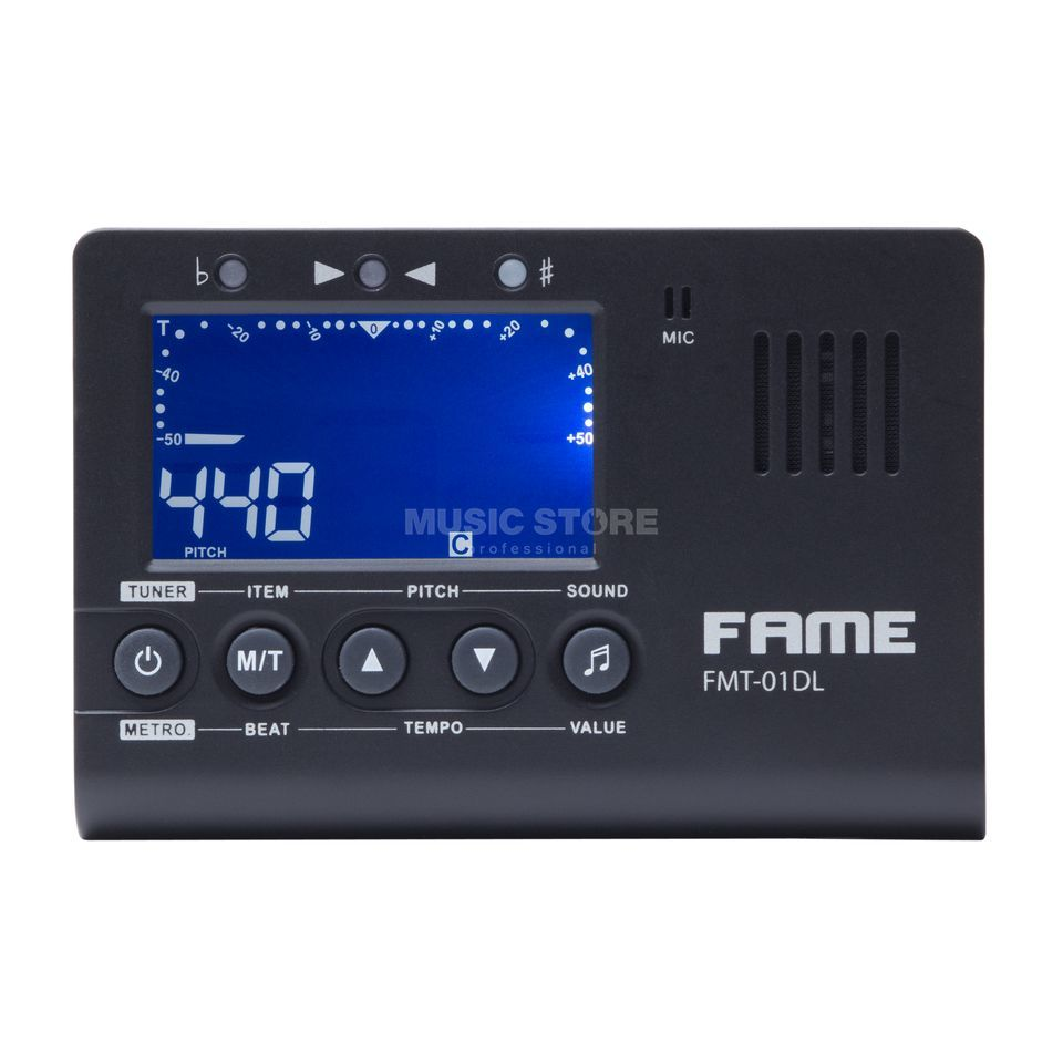 Fame AMT-520B Chromatic  Instrument Tuner & Metronome Produktbillede