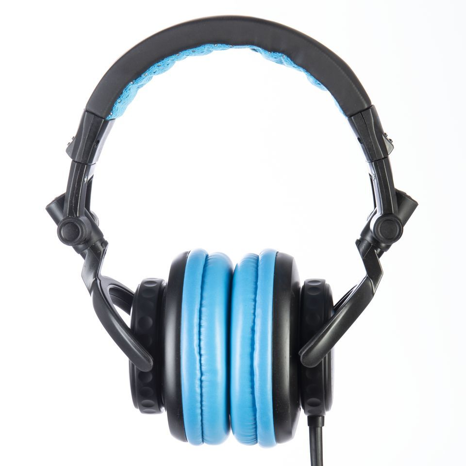 Fame audio hD-1000 Blue DJ Headphones Black And Blue, 3m Cable Product Image