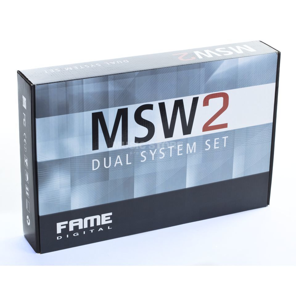 Fame audio MSW-2 Dual MKII Vocal Set 823 - 832 MHz/863 - 865 MHz Produktbillede