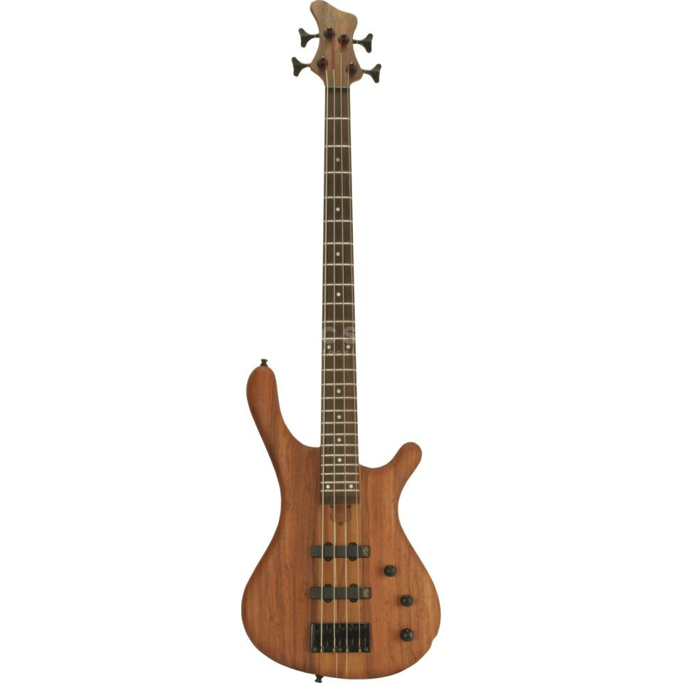 Fame Baphomet 4 NTB 4-String E-Bass Guitar, Neck-Thru, Natural Oil Produktbillede