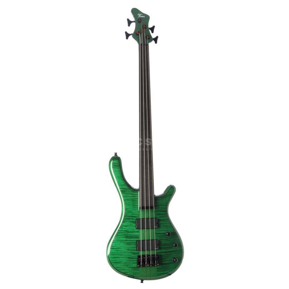 Fame Baphomet 4 NTB LE Fretless Transparent Emerald Green DEMO Produktbild