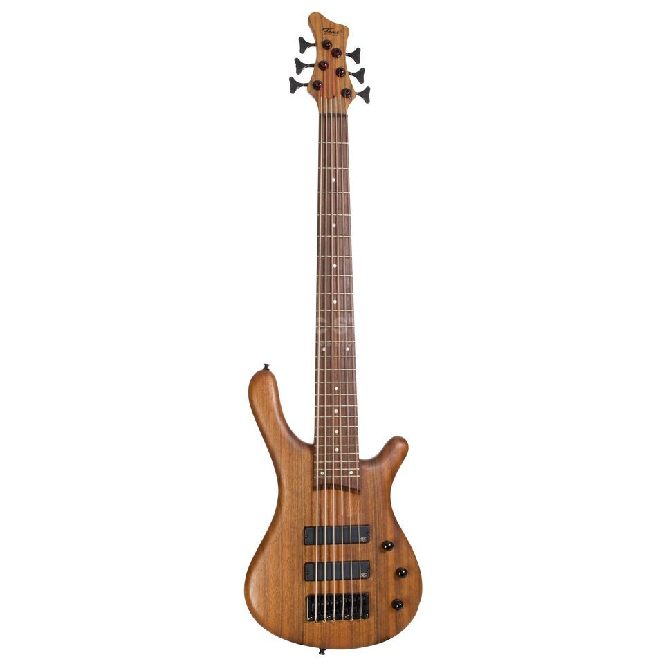 Fame Baphomet 6 NT 6-String E-Bass Guitar, Natural Oil Finish Product Image