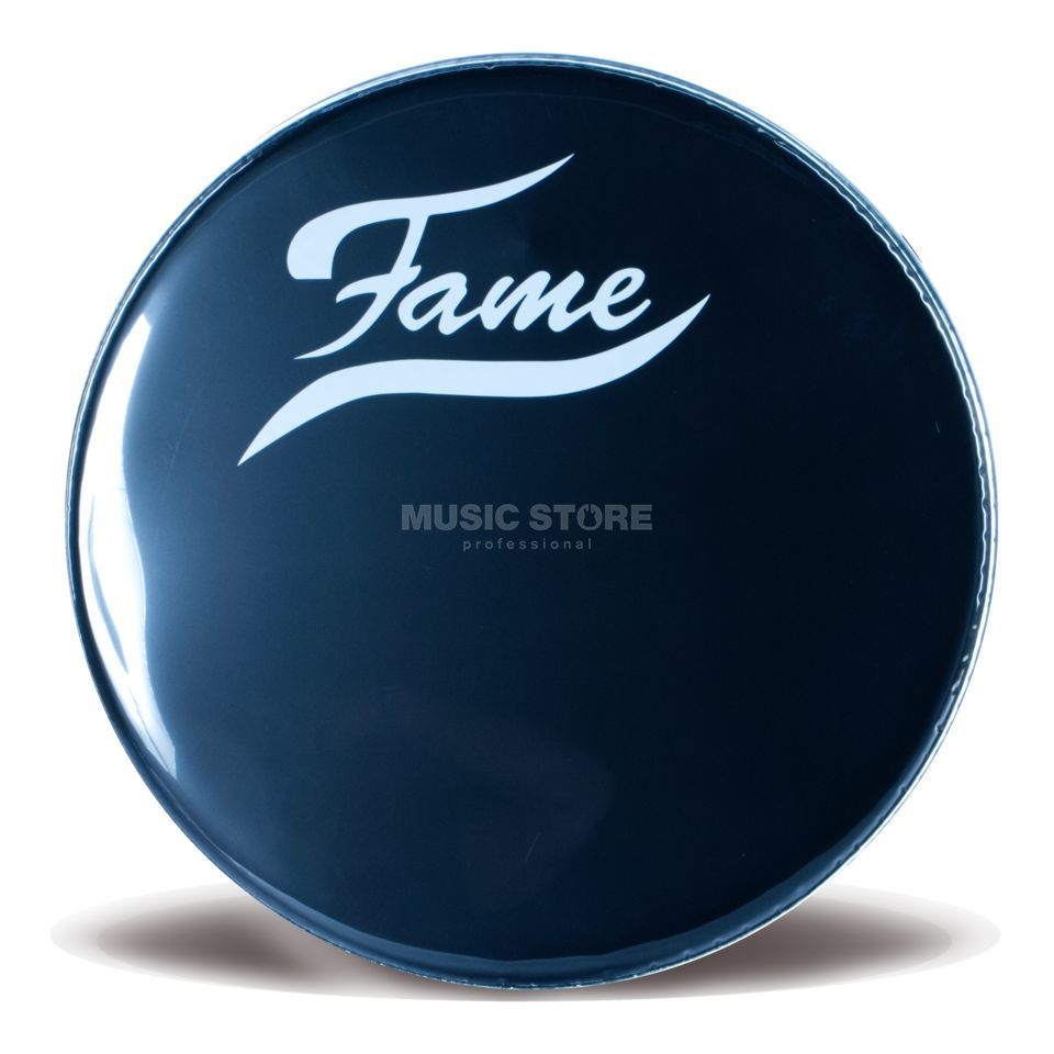 "Fame Bass Drum Front Head 20"", black, w/logo Produktbillede"