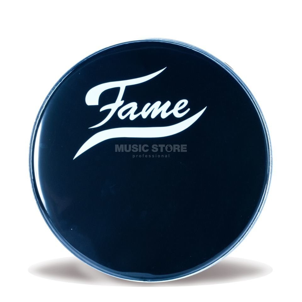 "Fame Bass Drum Front Head 22"", black, w/logo Product Image"
