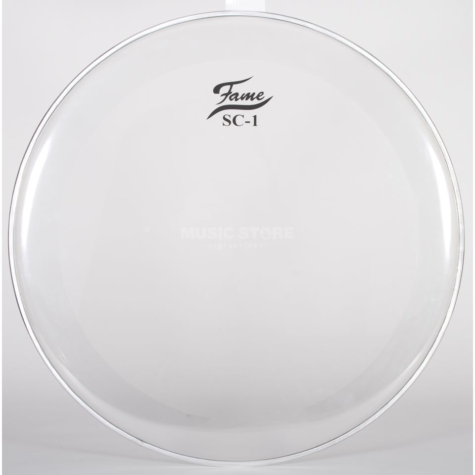 "Fame Bass Drum Head SC1, 24"", Sound Control, clear Produktbillede"