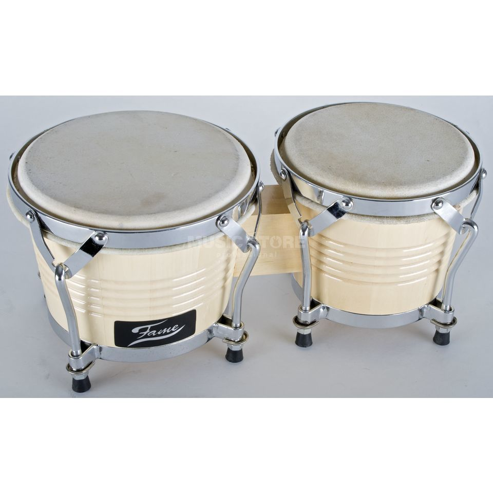 "Fame Bongo Beginner Set 6""+7"", Natural, Chrom Hardware Productafbeelding"
