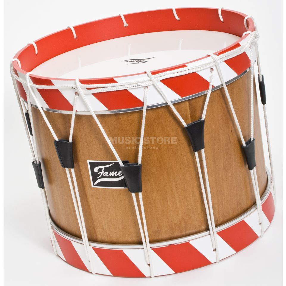 "Fame Field Drum FL142 14""x12"",  natural, red - white Product Image"