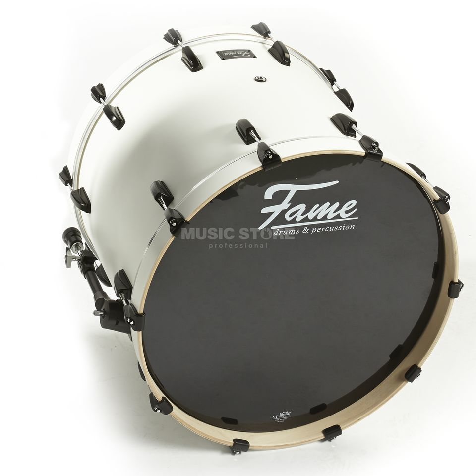 "Fame Fire BassDrum 22""x18"", #Matte White Product Image"