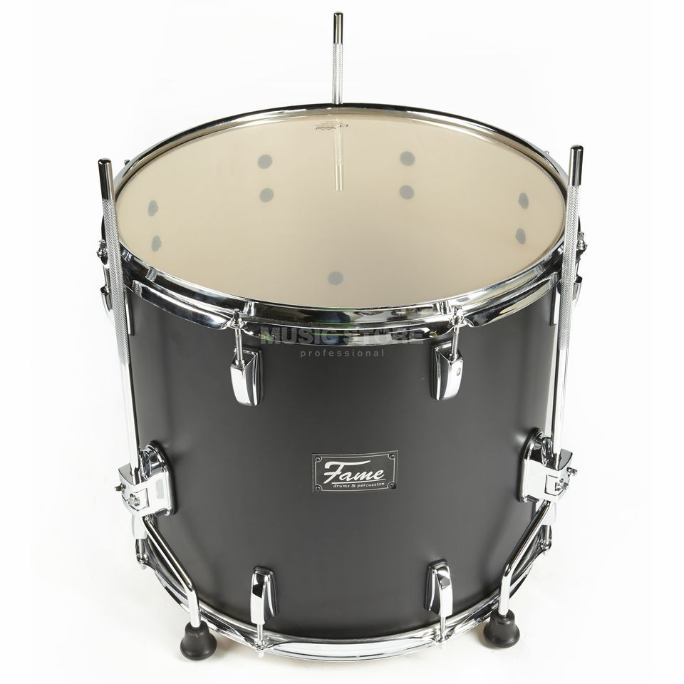 "Fame Fire FloorTom 18""x16"", #Matte Black 301A Product Image"