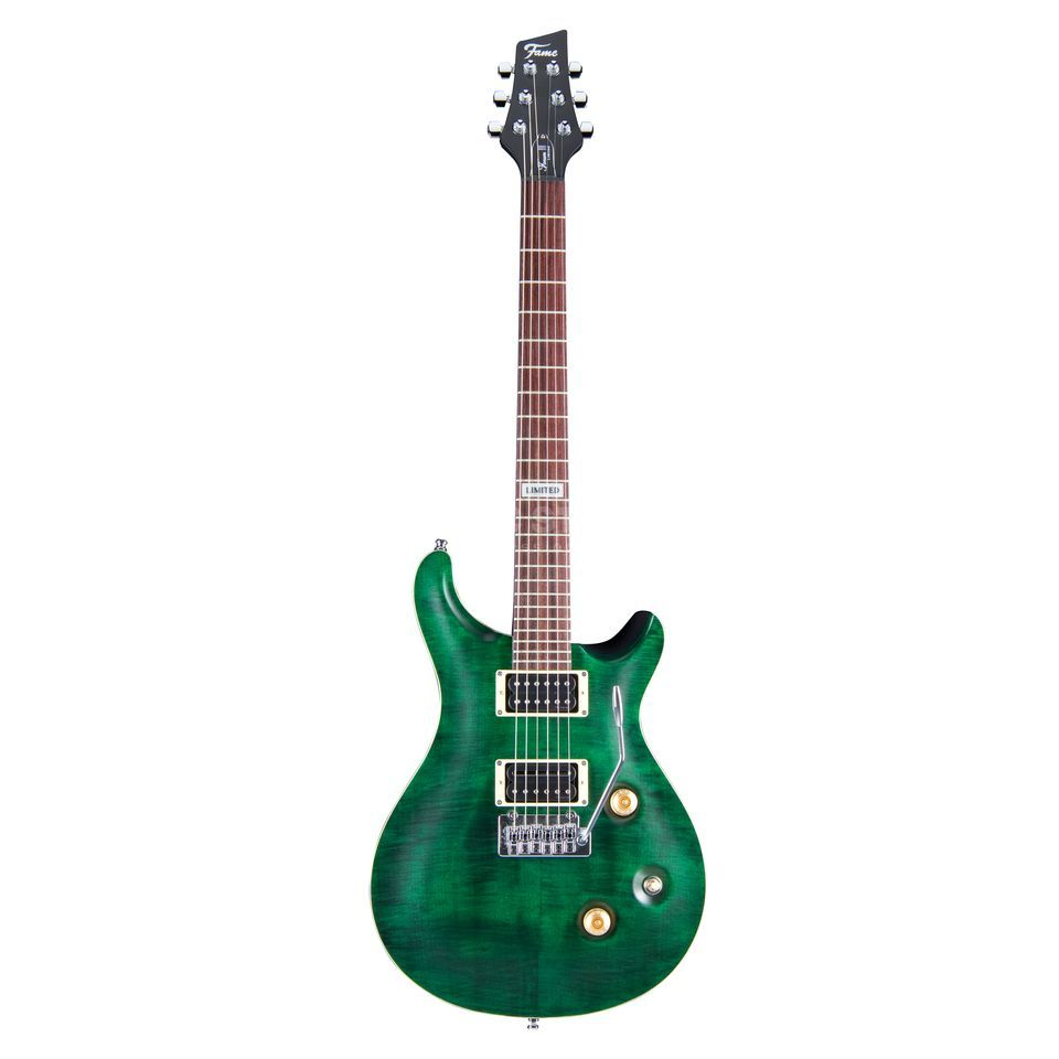 Fame Forum III Progressive Limited Transparent Emerald Green, Chrome Hardware Produktbild