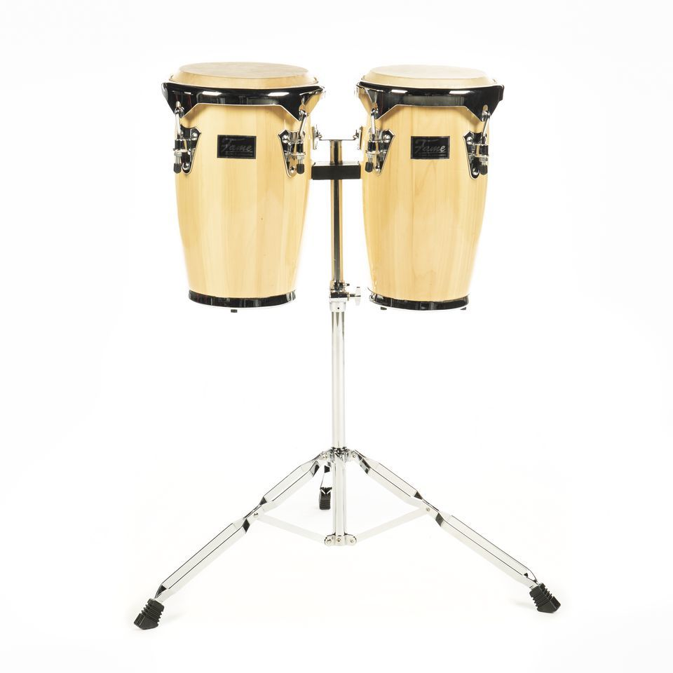 "Fame Junior Conga Set 8""+ 9"", Natural, inkl. Ständer Produktbild"