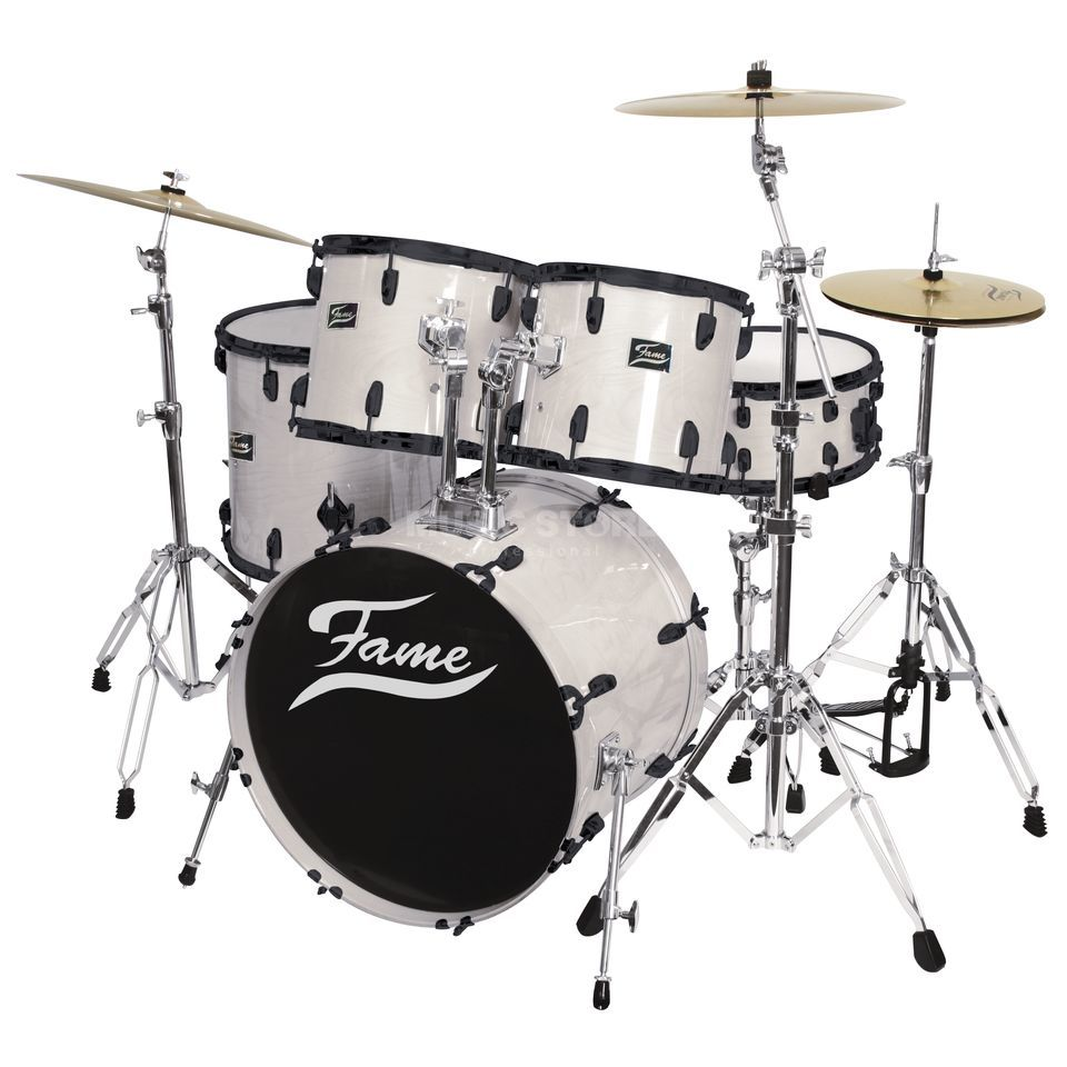 Fame Maple Standard Set 5201, #White Laquer, Black HW Produktbild