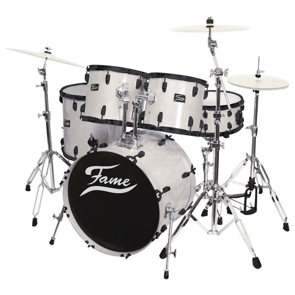 Fame Maple Standard Set 5221, #White Laquer, Black HW Produktbild