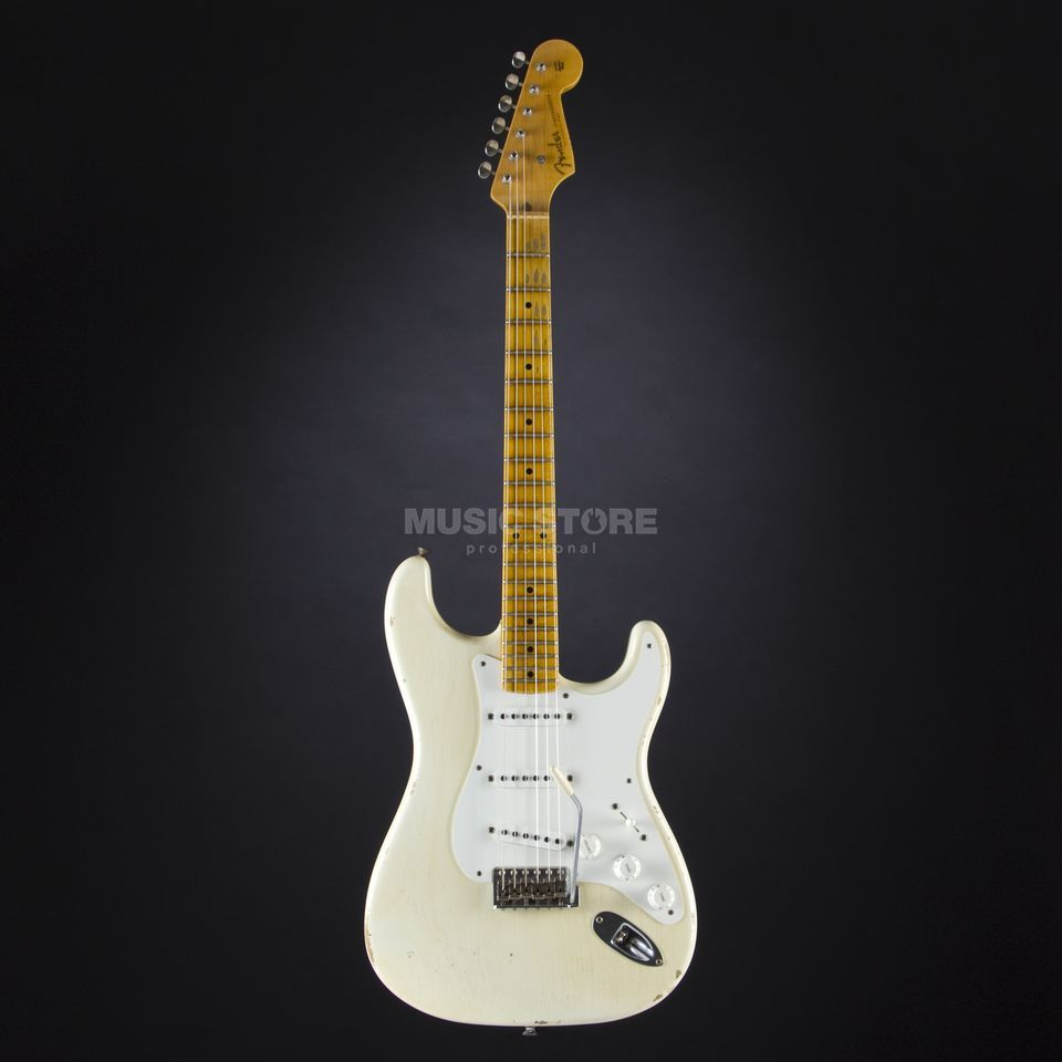 Fender 1955 Relic Stratocaster Aged Olympic White #CZ524081 Product Image