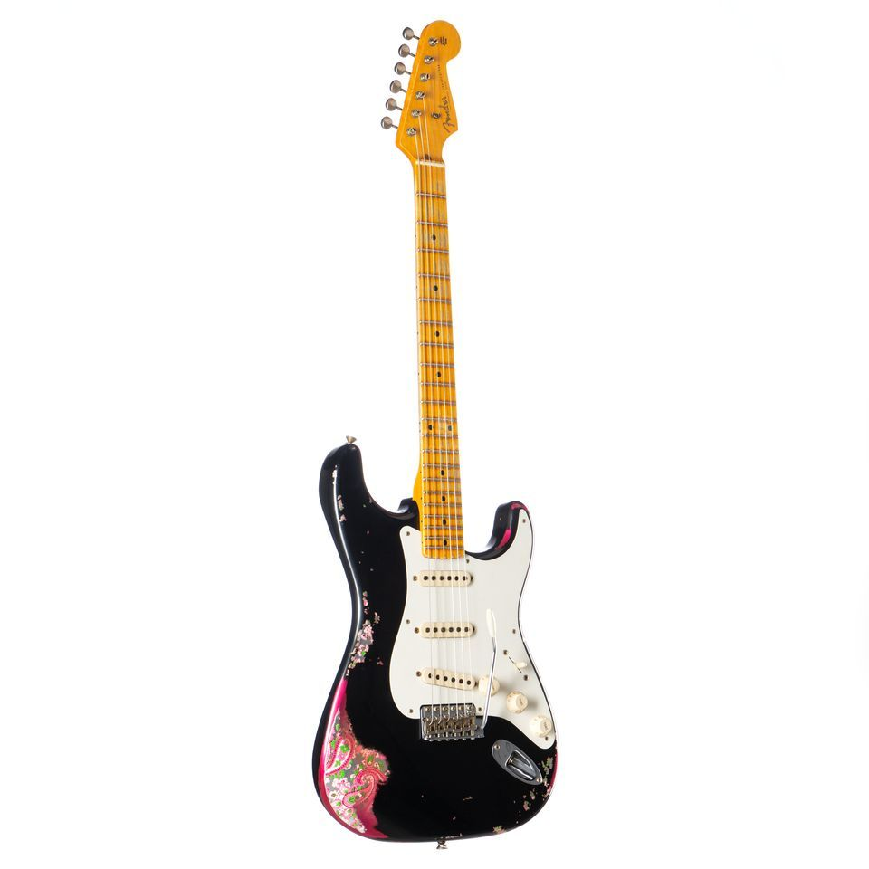 Fender 1957 Heavy Relic Stratocaster Black over Pink Paisley