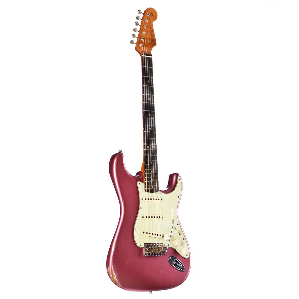 Fender 1962 Relic Stratocaster Burgundy Mist Metallic #R88698 Productafbeelding
