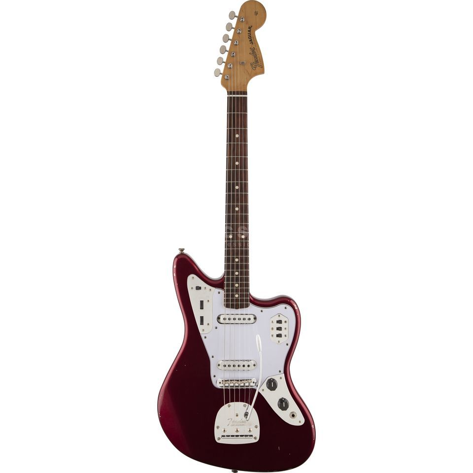 Fender 60s Road Worn Jaguar CAR Candy Apple Red Produktbillede