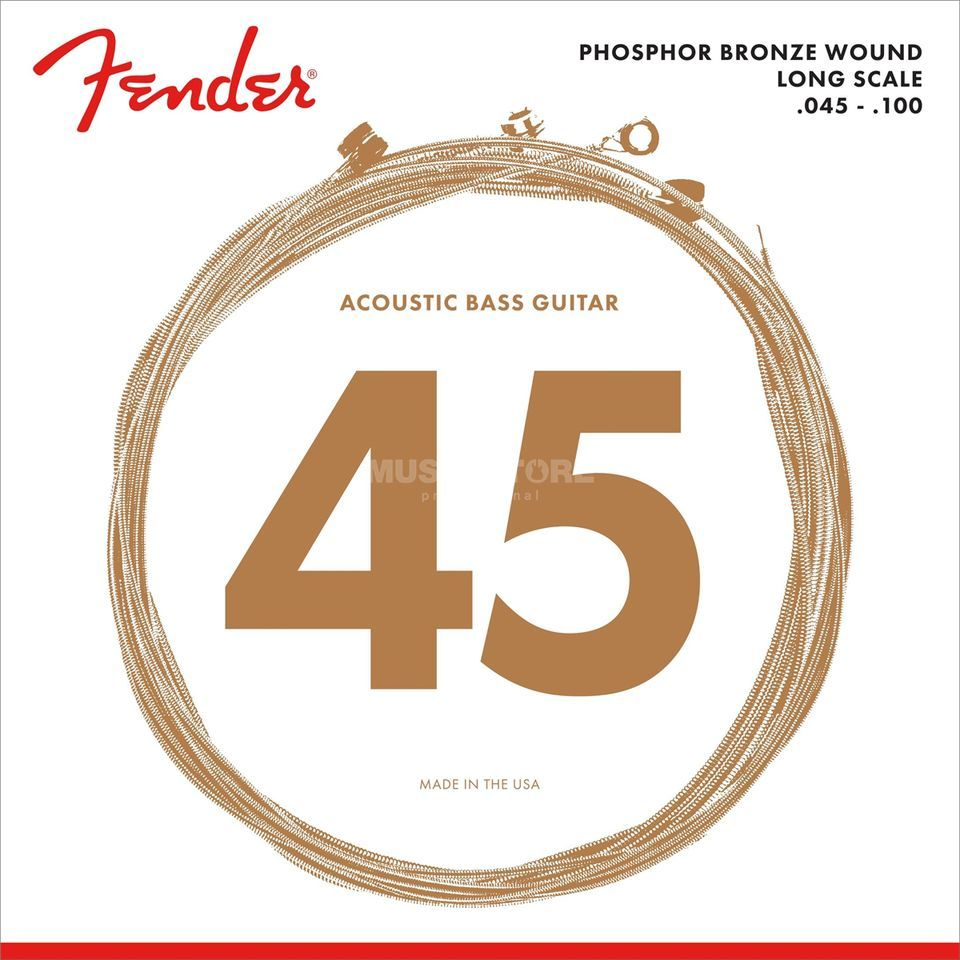 Fender 8060 Phosphor Bronze Acoustic Bass Strings Long Scale 45-100 Produktbild