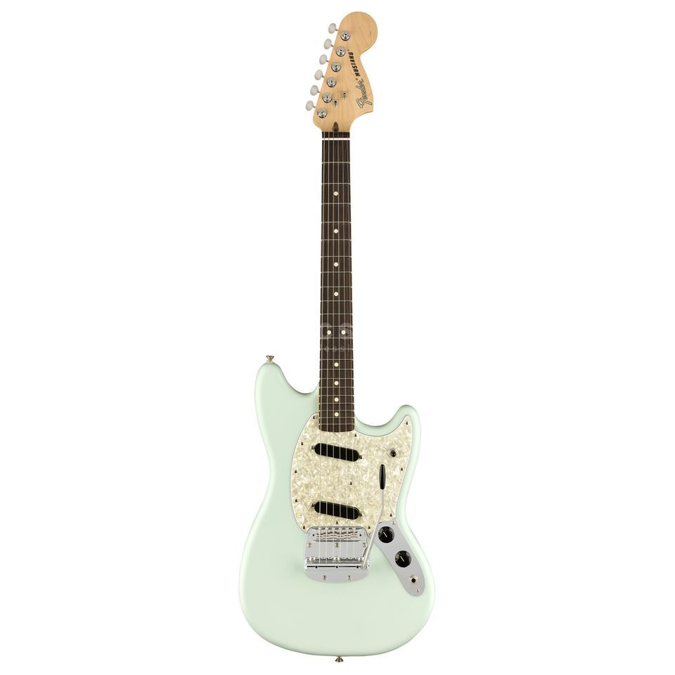 Fender American Performer Mustang RW Satin Sonic Blue Product Image
