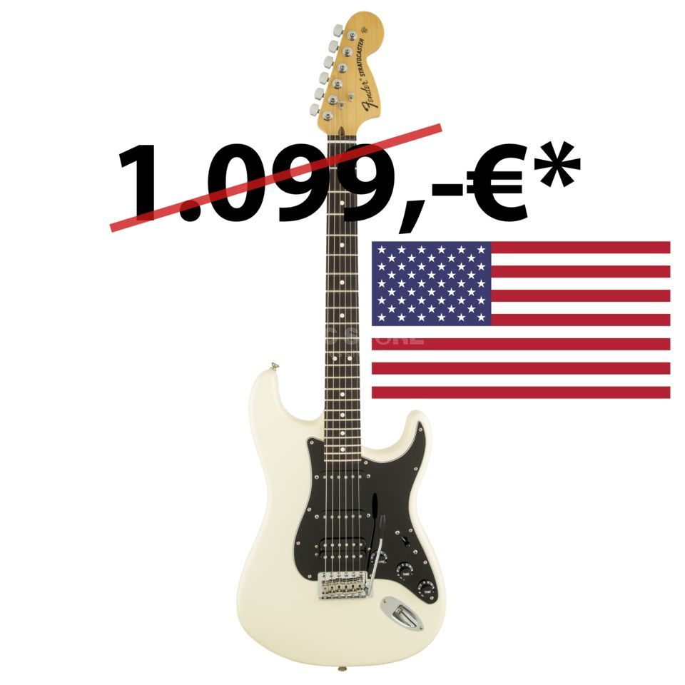 Fender American Special Stratocaster HSS RW OWT Olympic White Produktbillede
