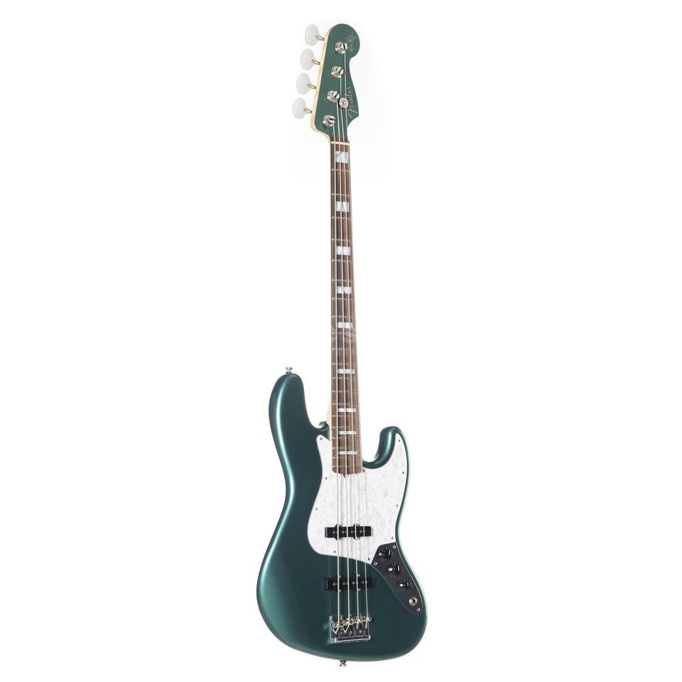 Fender AS Adam Clayton J-bas RW SGM Sherwood Green metallic MH Productafbeelding