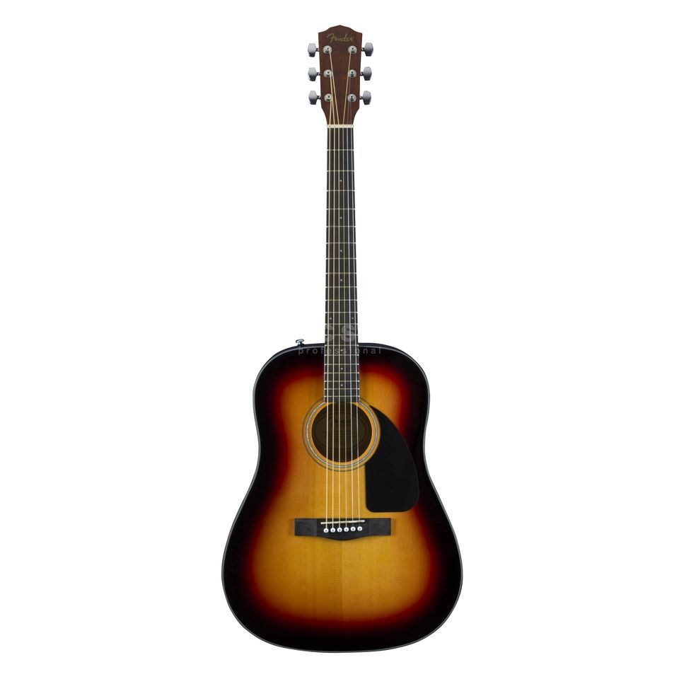 Fender CD-60 Acoustic Guitar, Sunburs t   Produktbillede