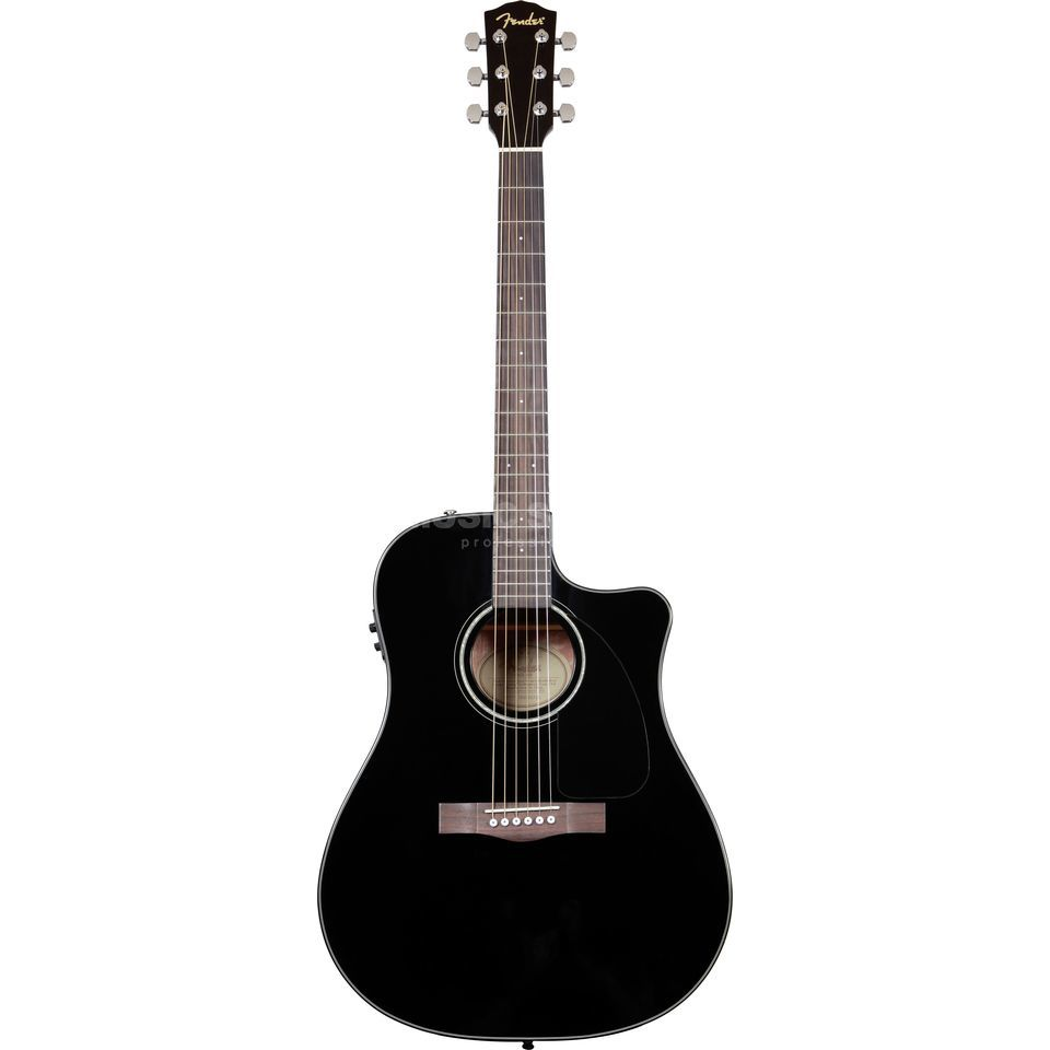 Fender CD-60CE Electro Acoustic Guita r, Black   Produktbillede