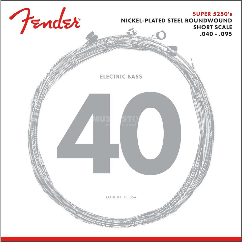 Fender Cordes Super 5250 XL 040-095 Nickelplated St., diapason court Image du produit