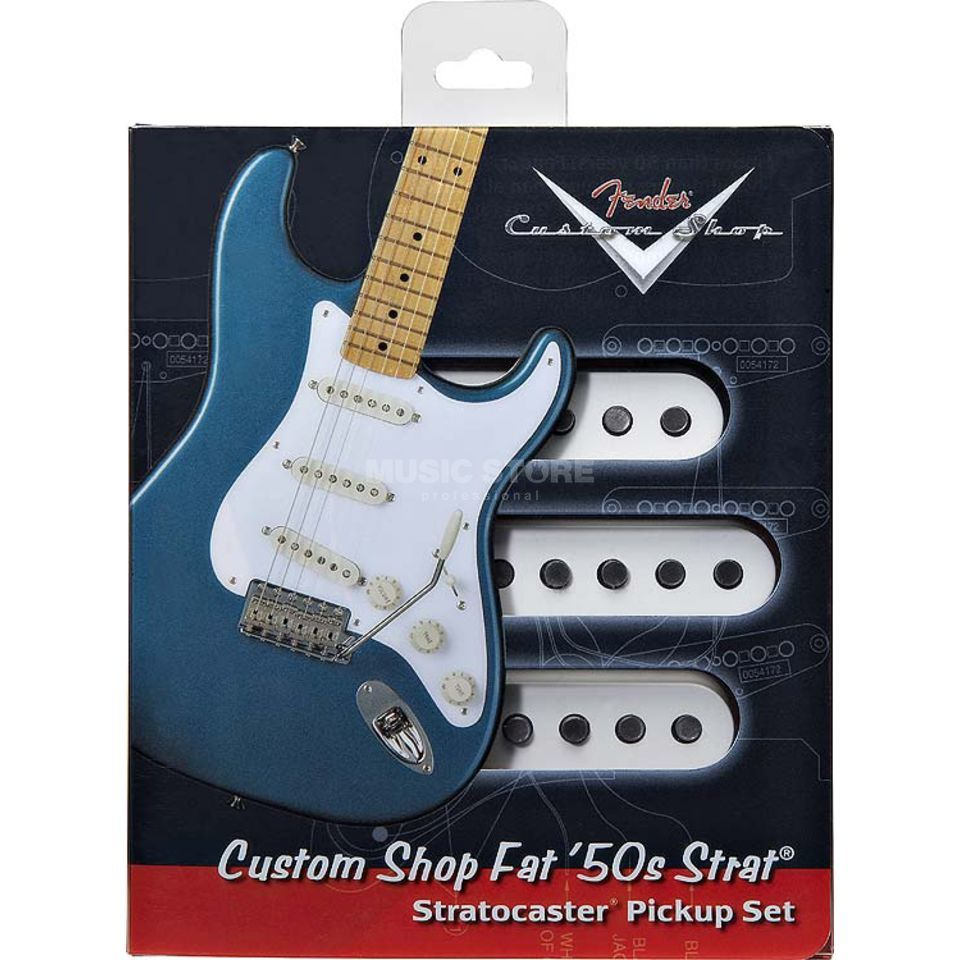 Fender CS Fat 50 Strat Set White  Produktbillede